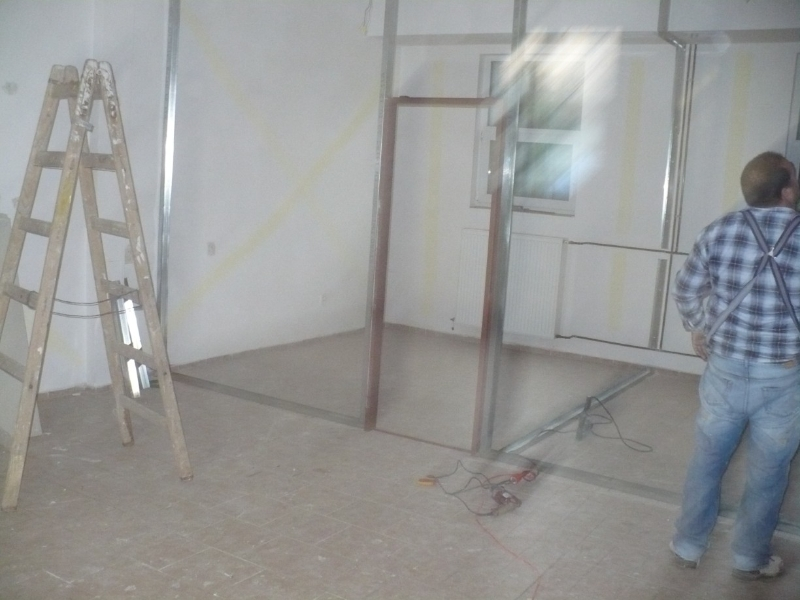 Rekonstrukce - posilovna Prosek